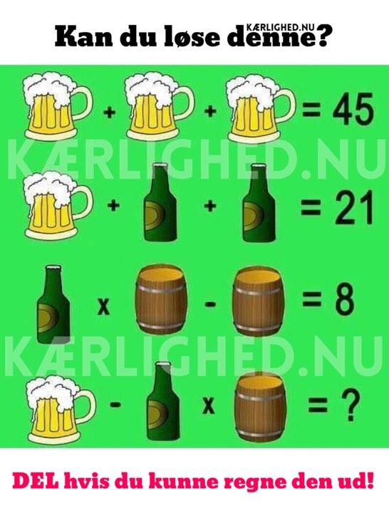 Kan du løse denne? - DEL hvis du kunne regne den ud!