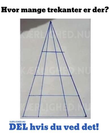 Hvor mange trekanter er der? - DEL hvis du ved det!