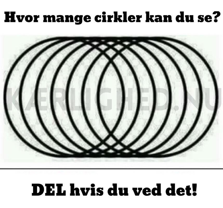 Hvor mange cirkler kan du se? DEL hvis du ved det!