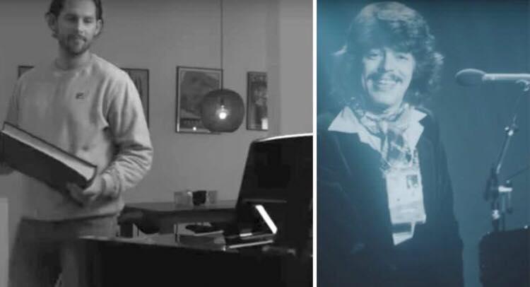 Rasmus Seebach skriver rørende sang om sin far til sin lille søn Holger, der desværre aldrig nåede at møde sin farfar.