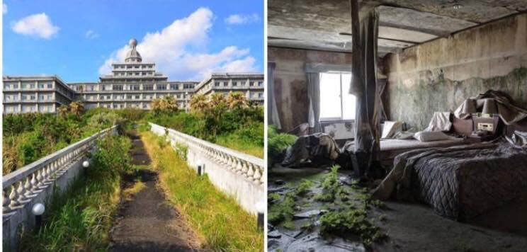 Unikt ferieparadis blev kladt for ''Japans Hawaii'' - nu ligger hotellet helt øde