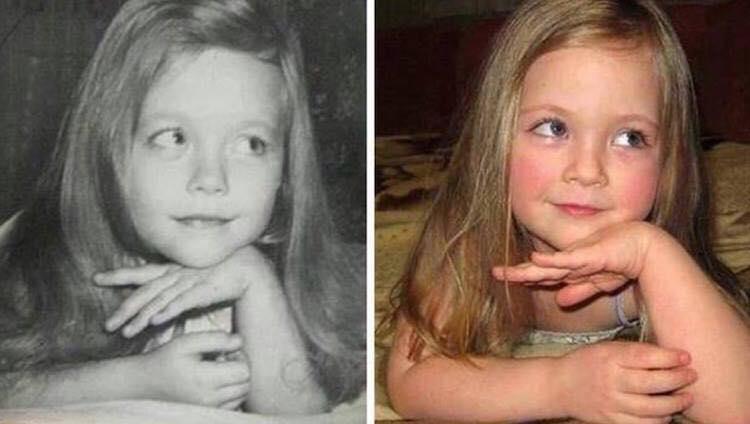 Fascinerende! Genetikken skaber vidundere: 14 billeder af forældre og børn i samme alder