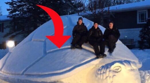 5 billeder der viser hvordan sne kan forvandles til utrolige skulpturer