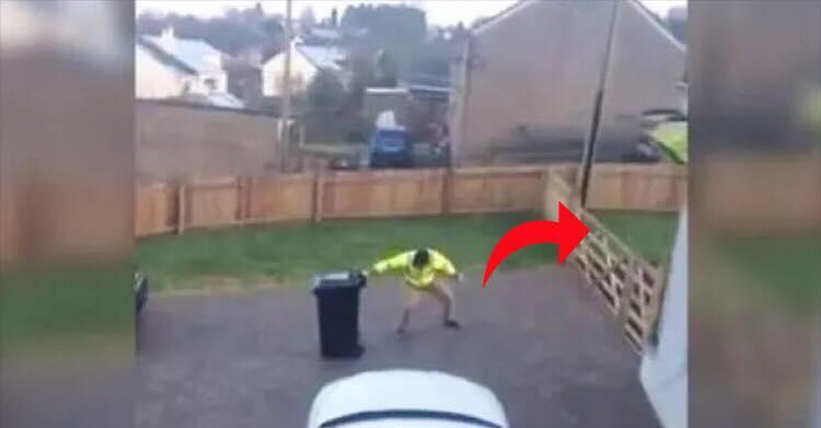 Konen filmer sin mand sætte skraldespanden på plads - videoen er nu blevet et viralt hit