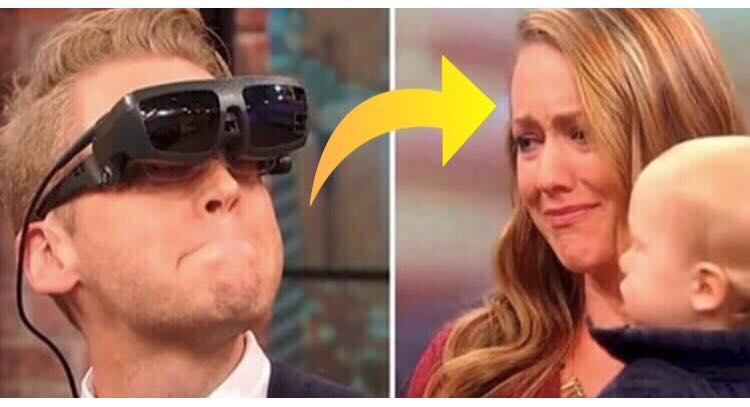 Blind mand ser sin kone og barn for første gang - hans reaktion er yderst rørende!