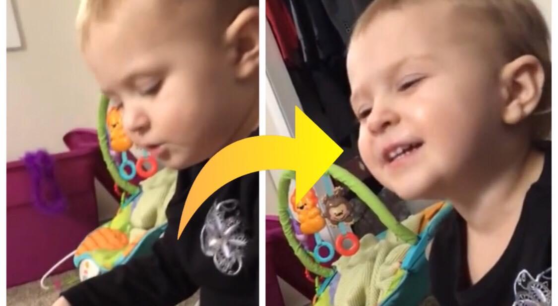 Moren undrede sig over mærkelige lyde fra sin 2-årige datters værelse - så få hun sig noget af en overraskelse!