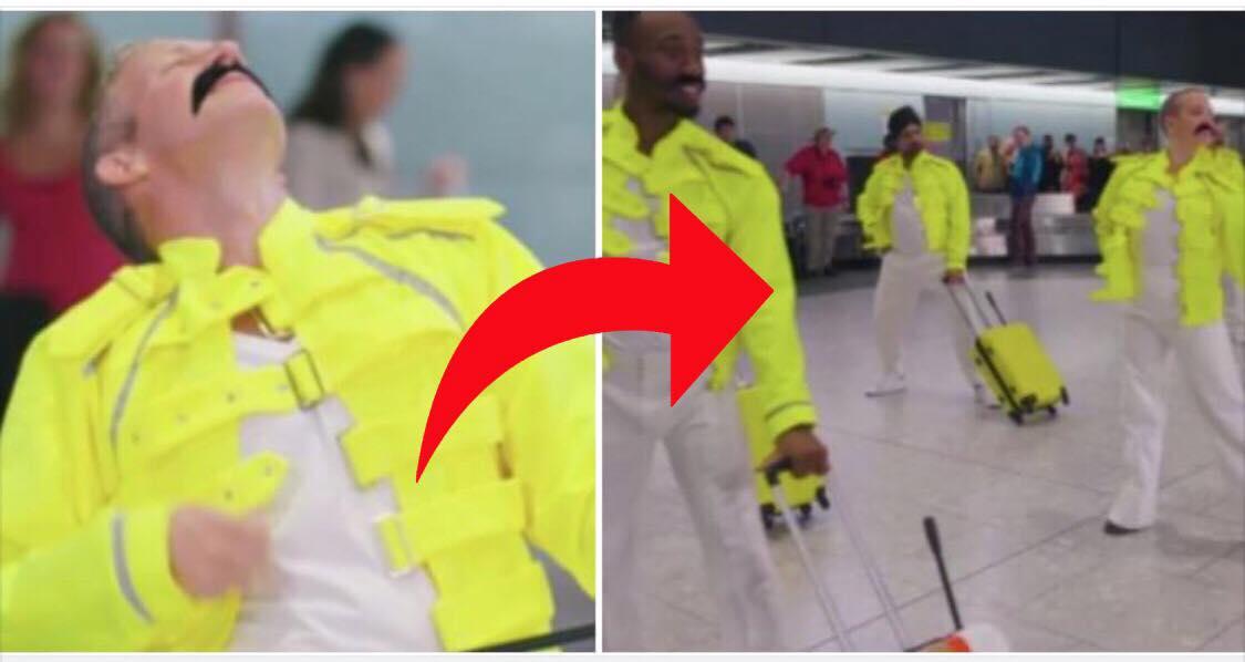 Lufthavnsmedarbejdere laver en kæmpe hyldest til Freddie Mercury på hans 72 års fødselsdag
