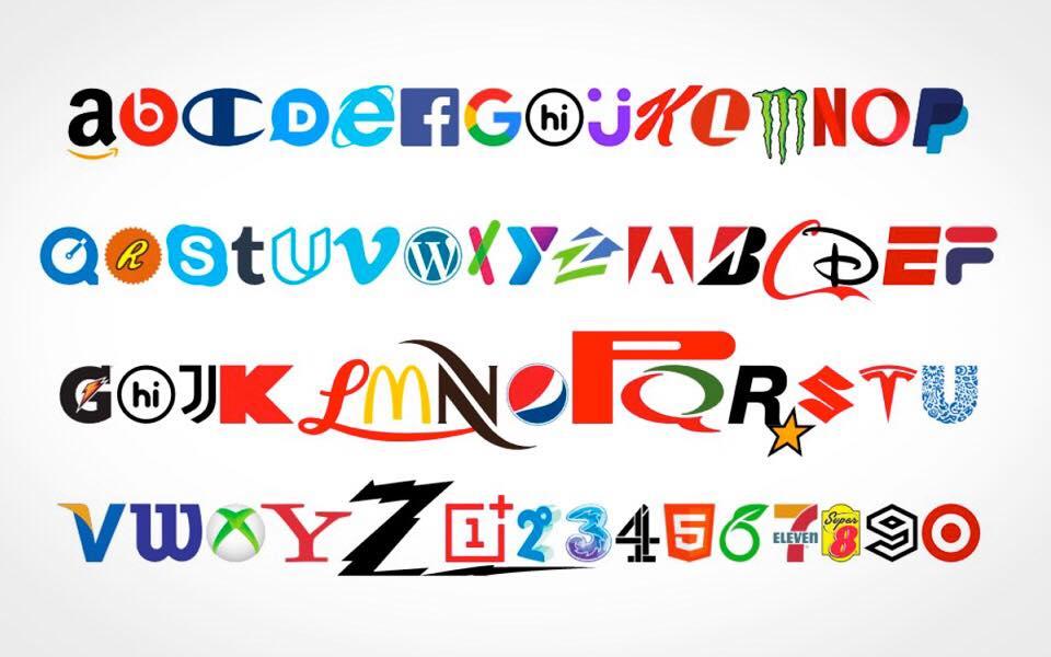 Nyhed: nu kan du få en skrifttype font, som skriver med kendte logoer