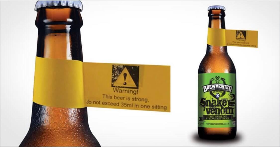 ''Snake Venom'' - Verdens stærkeste øl nogensinde: Den sender dig i hegnet på nul komma fem