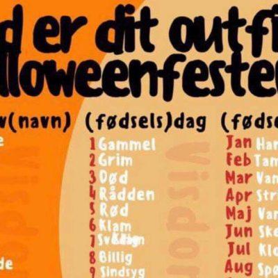 Ved du ikke hvad dit halloween-outfit skal være i år? - billedet deles nu som en løbeild på nettet