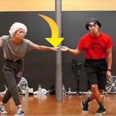 Danseparret tager hinanden i hånden - få sekunder senere er publikum ellevilde